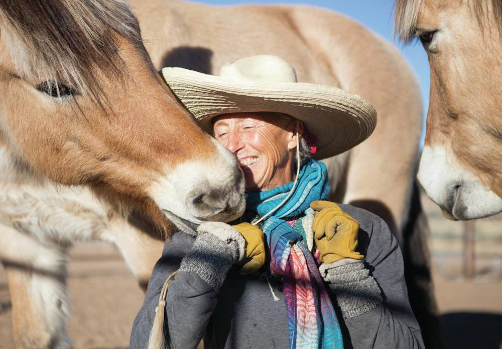 Bernice Ende with Horse